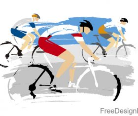 Mountain bike race design vectors 04