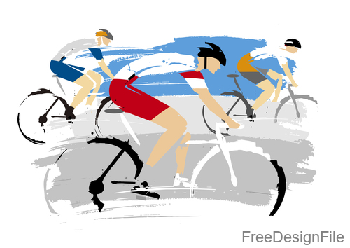 Mountain bike race design vectors 04