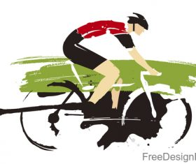Mountain bike race design vectors 05