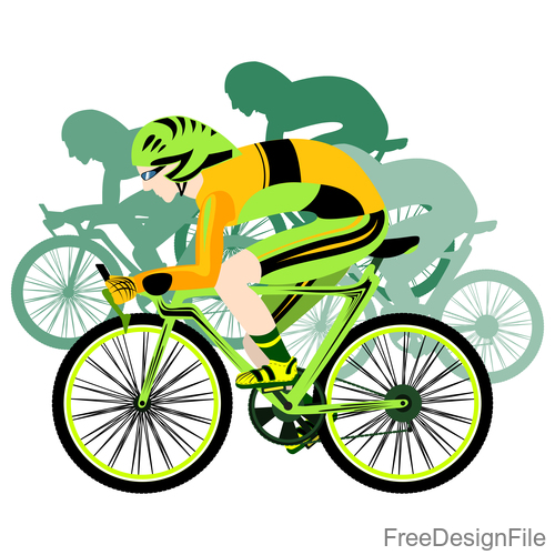 Mountain bike race design vectors 06