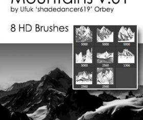 Mountains HD Photoshop Brushes