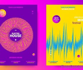 Music festival brochure template vector