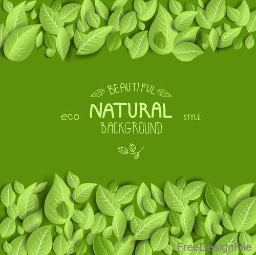 Natural backdrop with leaves vector
