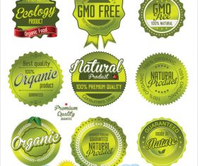 Natural organic product retro Labels vector