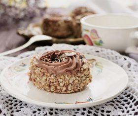 Nut chocolate cake Stock Photo