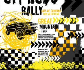 Off Road Rally Poster template vector