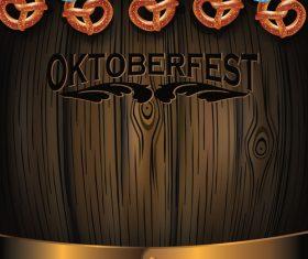 Oktoberfest Barrel Pretzels vector