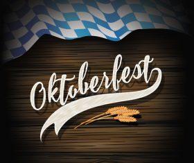 Oktoberfest Flag Wood Dark vector