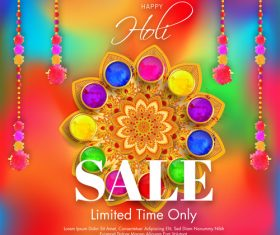 Orante Holi festival sale background vector