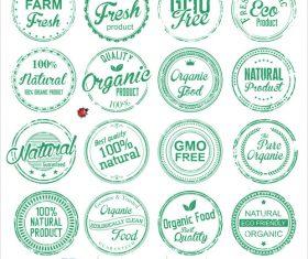 Organic Badges grunge stamp vector