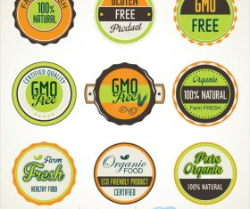 Organic food banners collection vector 02