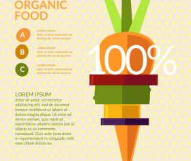 Organic food infographic vectors 01