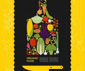 Organic food vector template design 01