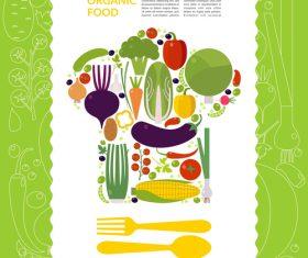 Organic food vector template design 02
