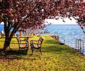 Outdoor benches Stock Photo 01