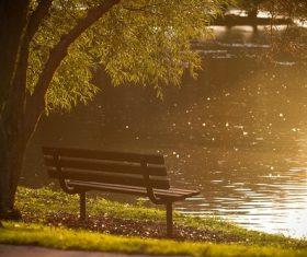 Outdoor benches Stock Photo 03