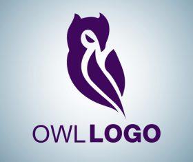 Owl logo design vectors set 03