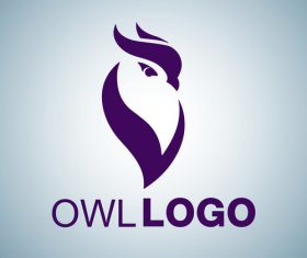 Owl logo design vectors set 04