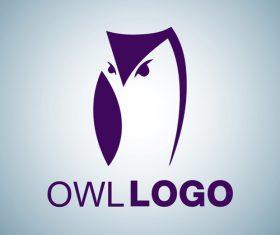Owl logo design vectors set 06