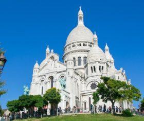 Paris Sacred Heart Church Building Stock Photo 02