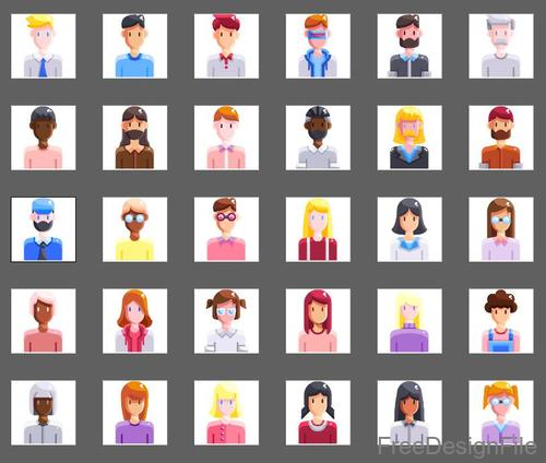 People and Avatar flat icons
