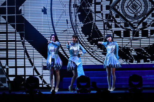 Perfume combination band concert scene Stock Photo