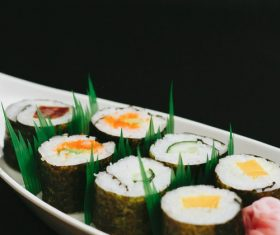 Pirate ship sushi Stock Photo
