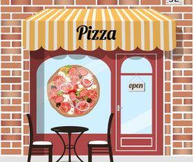 Pizza restaurant background design vector