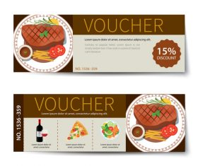 Pizza voucher template vectors 01