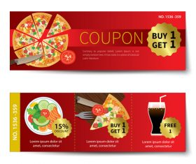 Pizza voucher template vectors 03