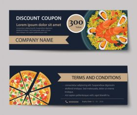 Pizza voucher template vectors 06
