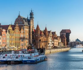 Polish city Gdansk city scenery Stock Photo 01