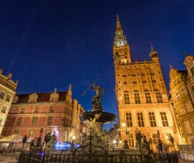 Polish city Gdansk city scenery Stock Photo 02