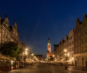 Polish city Gdansk city scenery Stock Photo 03
