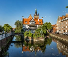 Polish city Gdansk city scenery Stock Photo 04