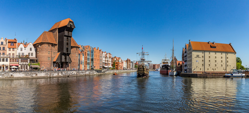 Polish city Gdansk city scenery Stock Photo 05