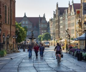 Polish city Gdansk city scenery Stock Photo 06