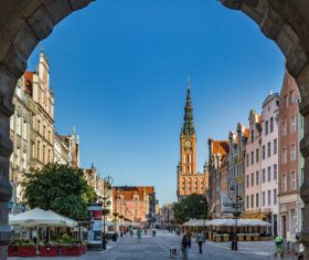 Polish city Gdansk city scenery Stock Photo 07