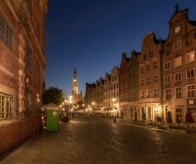 Polish city Gdansk city scenery Stock Photo 09