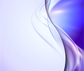 Purple transparent wave abstract vector 05