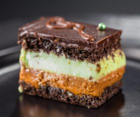 Rainbow Chocolate Cake Stock Photo