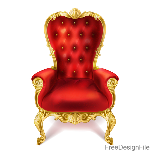 Red royal chair vector