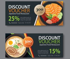 Restaurant delicacies voucher template vectors 01