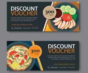 Restaurant delicacies voucher template vectors 02