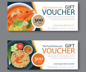 Restaurant delicacies voucher template vectors 03