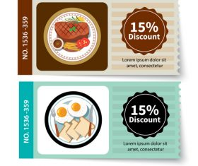 Restaurant discount coupon vector