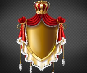Royal heraldry medieval decor vector