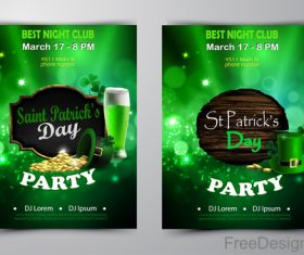 Saint patrick day party flyer with template vectors 08