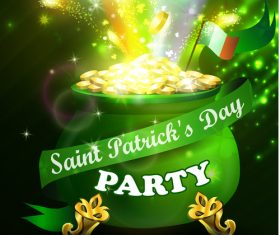 Saint patrick day party flyer with template vectors 09