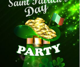 Saint patrick day party flyer with template vectors 10